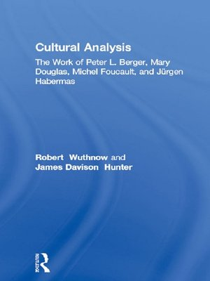 cover image of Cultural Analysis
