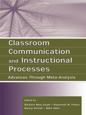 cover image of Classroom Communication and Instructional Processes