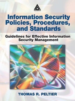cover image of Information Security Policies, Procedures, and Standards