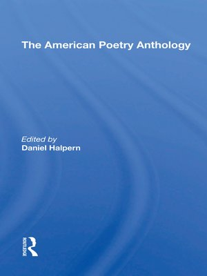 cover image of The American Poetry Anthology