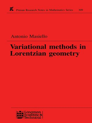cover image of Variational Methods in Lorentzian Geometry