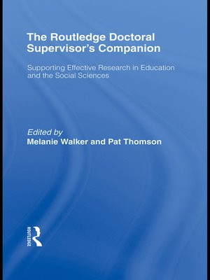 cover image of The Routledge Doctoral Supervisor's Companion