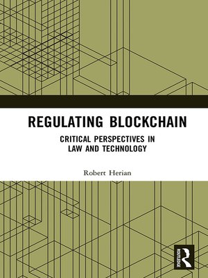 cover image of Regulating Blockchain