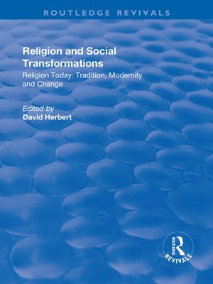cover image of Religion and Social Transformations