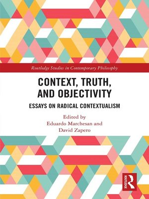 cover image of Context, Truth and Objectivity