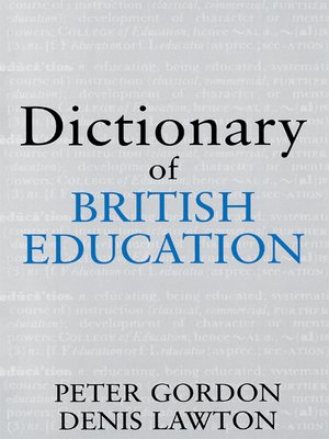 cover image of Dictionary of British Education