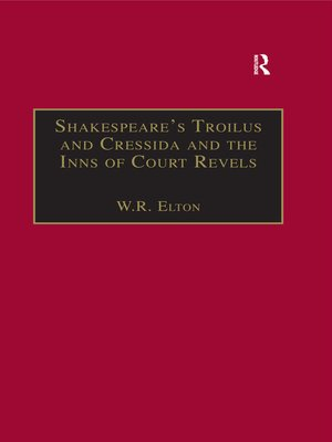 cover image of Shakespeare's Troilus and Cressida and the Inns of Court Revels