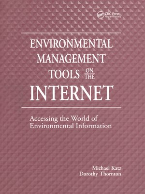 cover image of Environmental Management Tools on the Internet