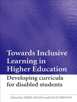 cover image of Towards Inclusive Learning in Higher Education