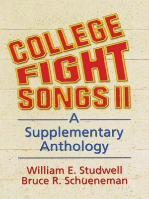 cover image of College Fight Songs II