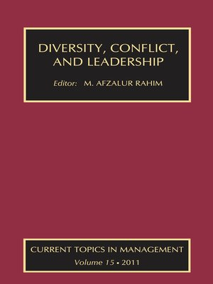 cover image of Diversity, Conflict, and Leadership