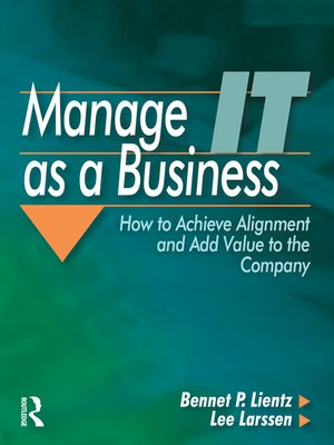cover image of Manage IT as a Business