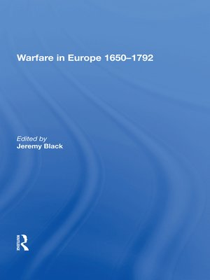 cover image of Warfare in Europe 1650�792