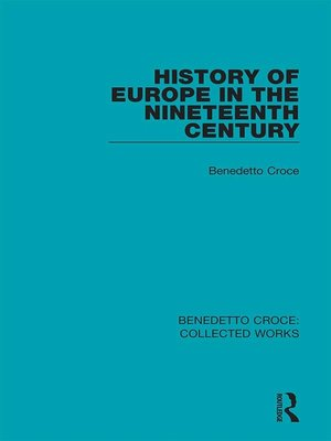cover image of History of Europe in the Nineteenth Century