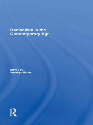 cover image of Radicalism In the Contemporary Age, Volume 1