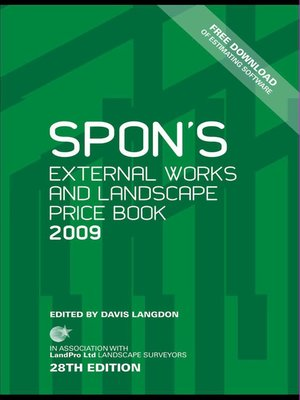 cover image of Spon's External Works and Landscape Price Book 2009