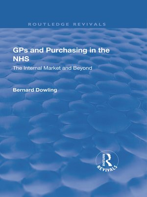 cover image of GPs and Purchasing in the NHS
