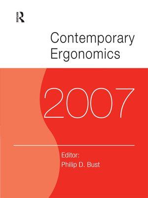 cover image of Contemporary Ergonomics 2007