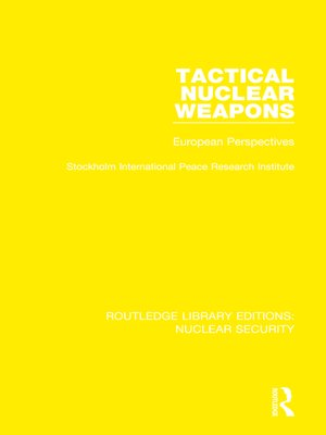 cover image of Tactical Nuclear Weapons