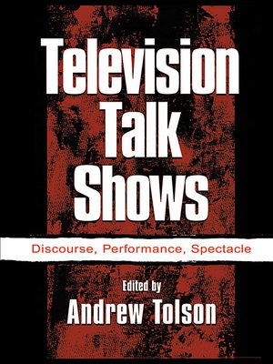 cover image of Television Talk Shows