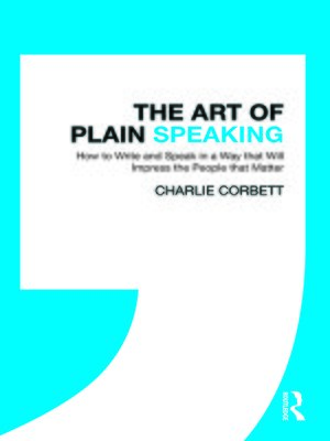 cover image of The Art of Plain Speaking