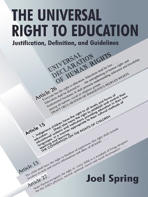 cover image of The Universal Right to Education