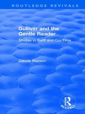 cover image of Gulliver and the Gentle Reader (1991): Studies in Swift and Our Time