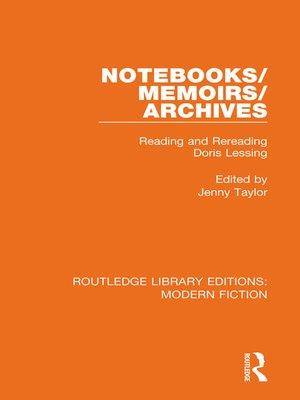 cover image of Notebooks/Memoirs/Archives