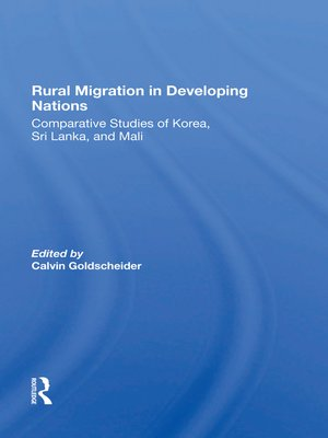 cover image of Rural Migration In Developing Nations