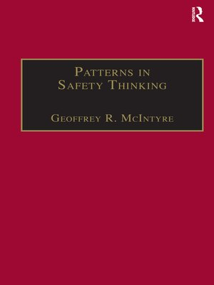 cover image of Patterns In Safety Thinking
