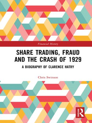 cover image of Share Trading, Fraud and the Crash of 1929