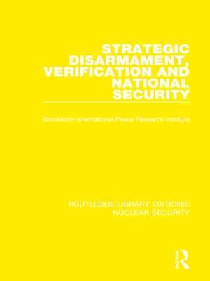 cover image of Strategic Disarmament, Verification and National Security