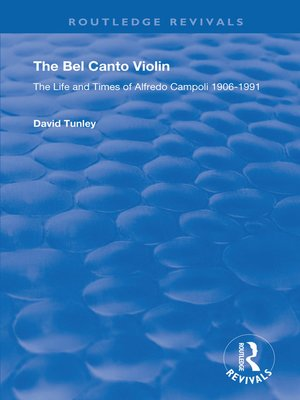cover image of The Bel Canto Violin