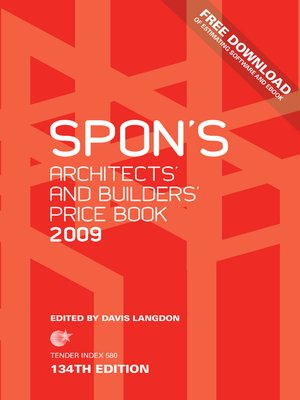cover image of Spon's Architects' and Builders' Price Book 2009