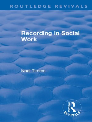 cover image of Recording in Social Work