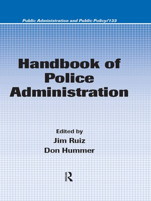 cover image of Handbook of Police Administration