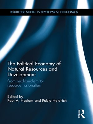cover image of The Political Economy of Natural Resources and Development