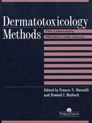 cover image of Dermatotoxicology Methods