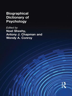 cover image of Biographical Dictionary of Psychology
