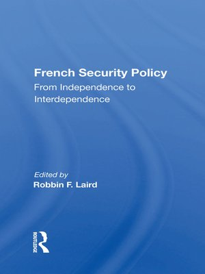 cover image of French Security Policy