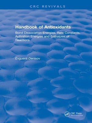 cover image of Handbook of Antioxidants