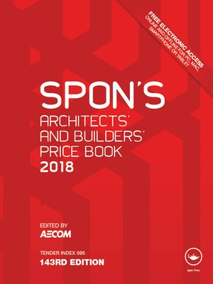 cover image of Spon's Architects' and Builders' Price Book 2018