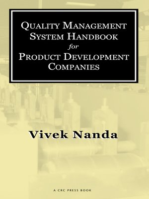 cover image of Quality Management System Handbook for Product Development Companies