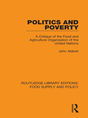 cover image of Politics and Poverty