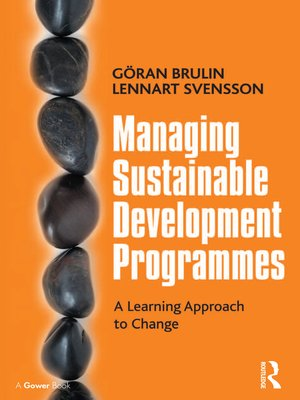 cover image of Managing Sustainable Development Programmes