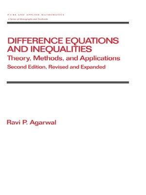 cover image of Difference Equations and Inequalities