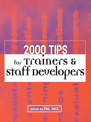 cover image of 2000 Tips for Trainers and Staff Developers