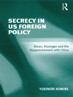 cover image of Secrecy in US Foreign Policy