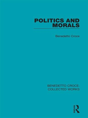 cover image of Politics and Morals