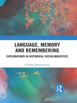 cover image of Language, Memory and Remembering